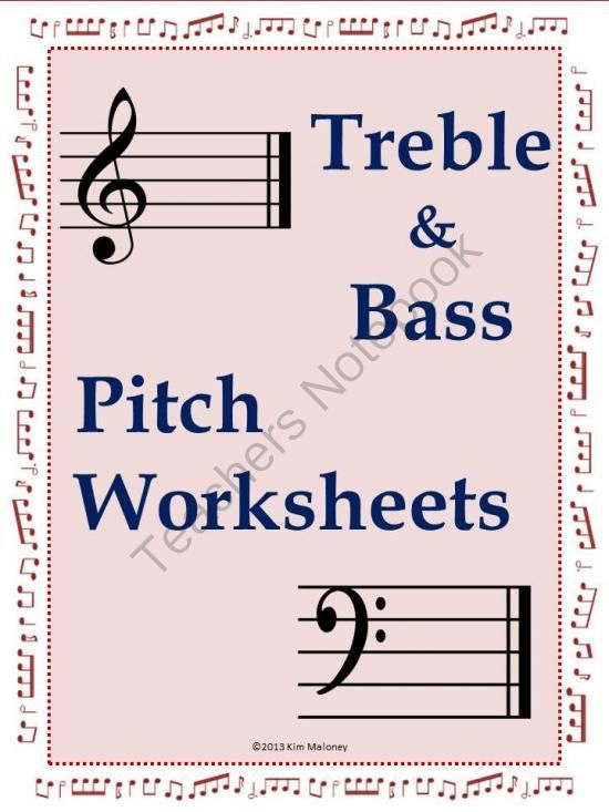 music pitch worksheets from musicteacherresources on  music pitch worksheets from musicteacherresources on teachersnotebookcom    pages  treble and bass pitch nine workshee  music themed topics