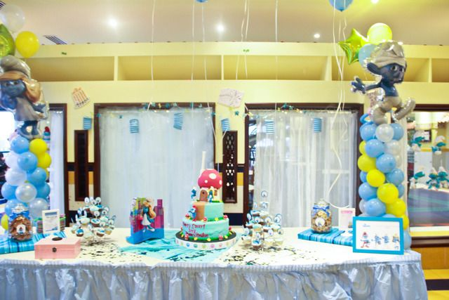 Pictures of Smurf Birthday: Smurfi Birthday, Birthday Parties, Sami Birthday, Smurfs Birthday, Girls Birthday, Photo, Birthday Ideas