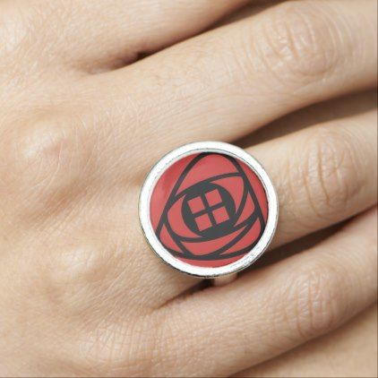 #Charles Rennie Mackintosh Arts & Crafts Style Rose Photo Rings - diy cyo customize personalize design