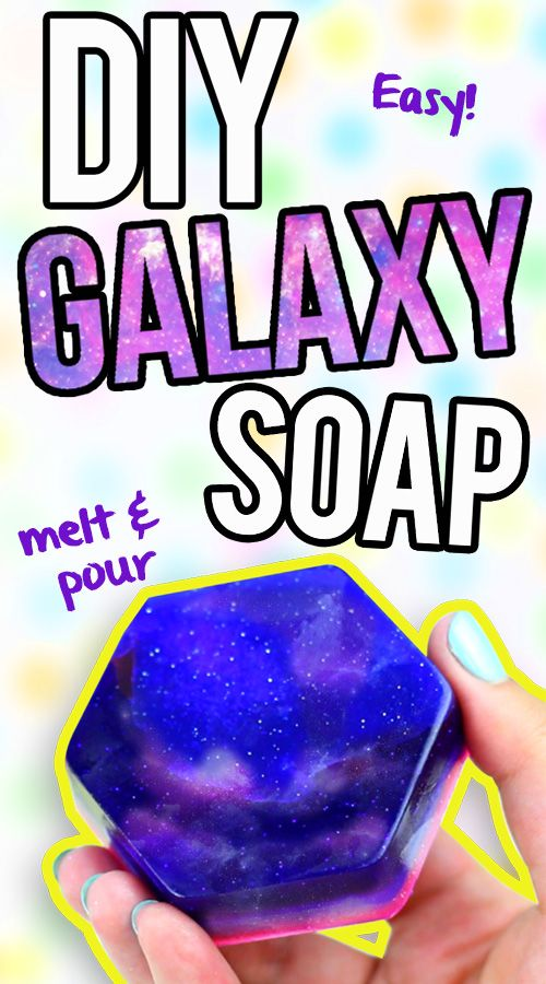 DIY Galaxy Soap - EASY Melt & Pour Soap Tutorial  Click here to learn how to make it: https://www.youtube.com/watch?v=6Cvo3Y2FWbU