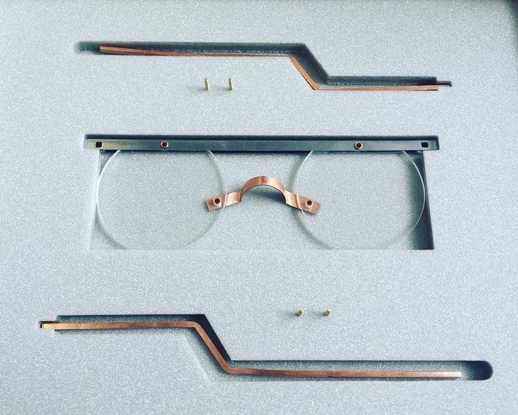 Foam packaging for assemble piece #design #jewellery #metalwork #eyeweardesign #eyewear #ND17 #britishdesign #sheffield #sheffieldinstituteofarts #comingtond