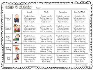 Free Rubrics for Guided Reading and Daily 5