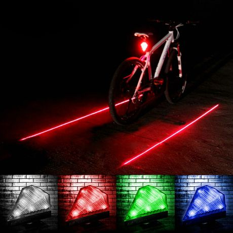Lampka rowerowa z laserem.