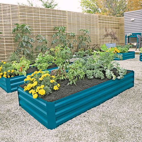 The Demeter Metal Raised Bed offers industrial design and bold looks and plenty of planting space on a budget.