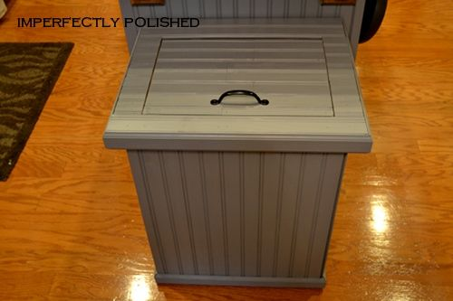 Trash can cover - John's going to build me a wooden trash can cover!! Yeah!