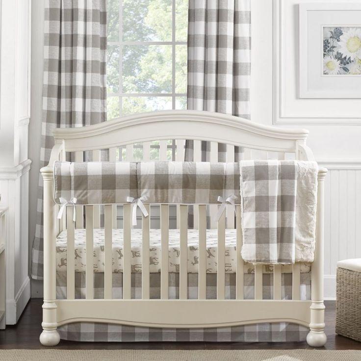 Buffalo Check Window Treatments Curtain Panels Crib Rail Cover Gender Neutral Crib Bedding Nursery Window Treatments