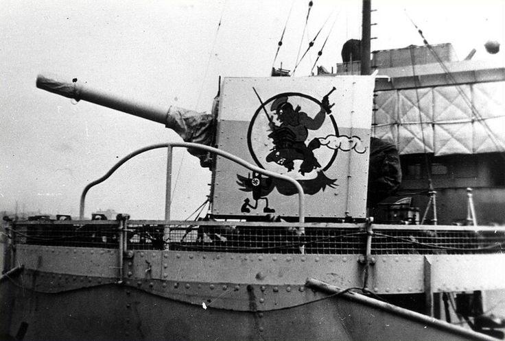 HMCS Calgary 4 inch deck gun