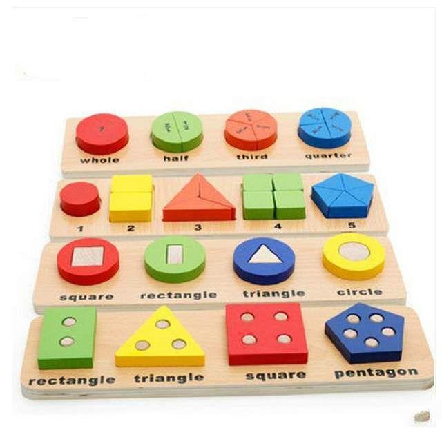 الأطفال ألعاب تعليمية خشبية مونتيسوري الرياضيات الأشكا Brinquedos Educativos Para Bebes Brinquedos De Madeira Para Criancas Brinquedos Educativos Para Criancas