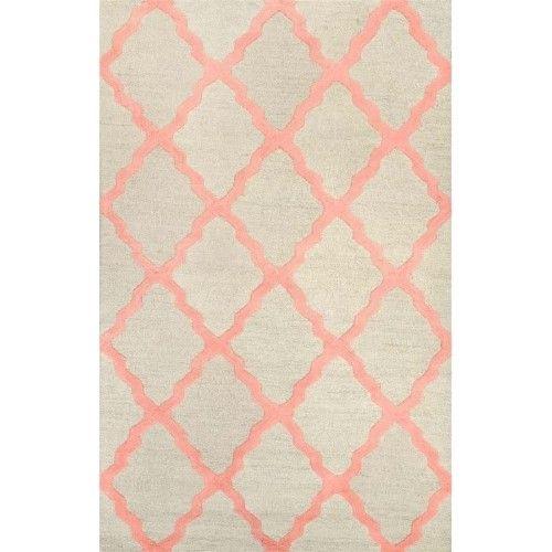 nuLOOM Hand-hooked Alexa Moroccan Trellis Wool Door Mat Rug (2' x 3'), Brown