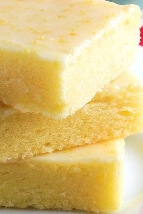 """Best Ever Lemon Brownie Bars ~ Blog says: """" Fudgy, lemony and irresistible! The texture of these citrus bars is very similar to brownies and the glaze is like pure sunshine."""""""