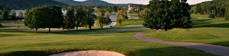 Leatherstocking Golf Course at Otesaga Resort Hotel, in Cooperstown, New York, was built by the nearby Lake Otsego in 1909. | Rock Bottom Golf #RockBottomGolf