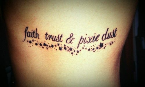 Peter Pan tattoo. this is my favorite Disney song!!!  i think i might have to find a place for this!