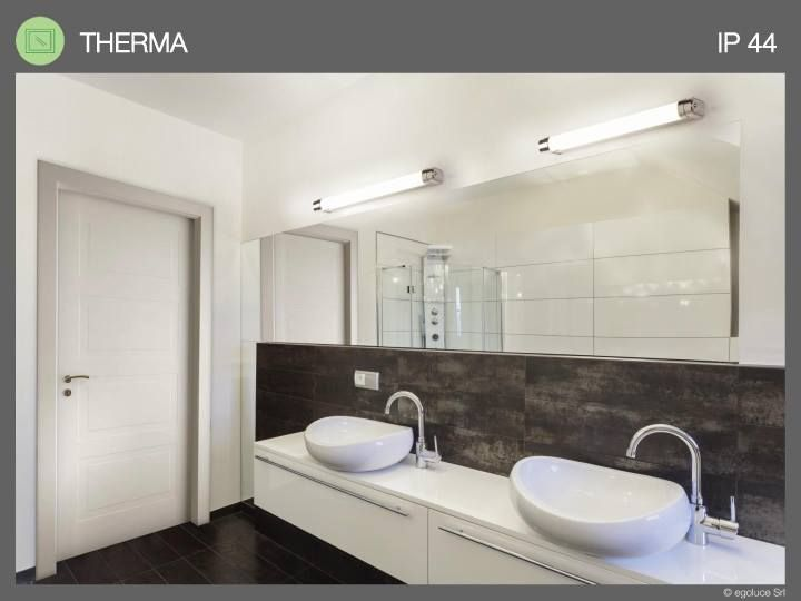 WET LOCATION The lights collection with high degree of impermeability allows to have different solutions to illuminate your wet locations.