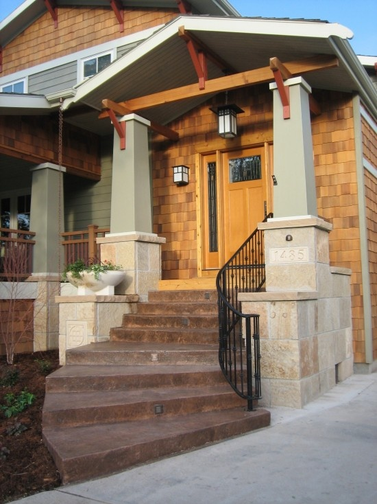 Craftsman Front Doors Craftsman Porch Facade House: 17 Best Images About Misc. Living Spaces On Pinterest