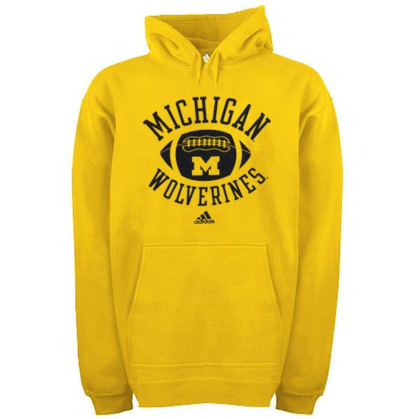 adidas Michigan Wolverines Football Practice Hoodie - Gold - $24.99