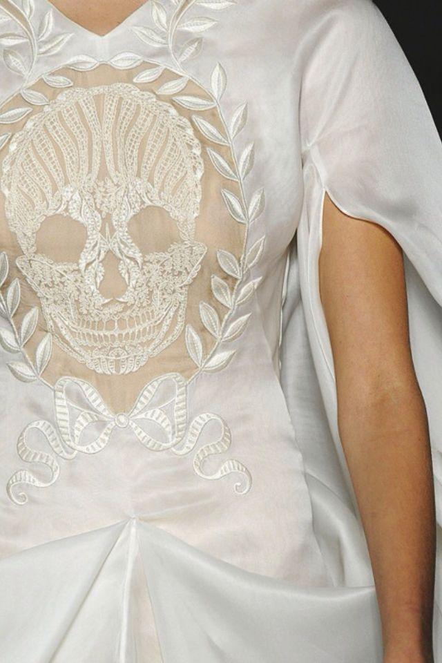 Lace skull wedding dress wedding stuff pinterest for Sugar skull wedding dress