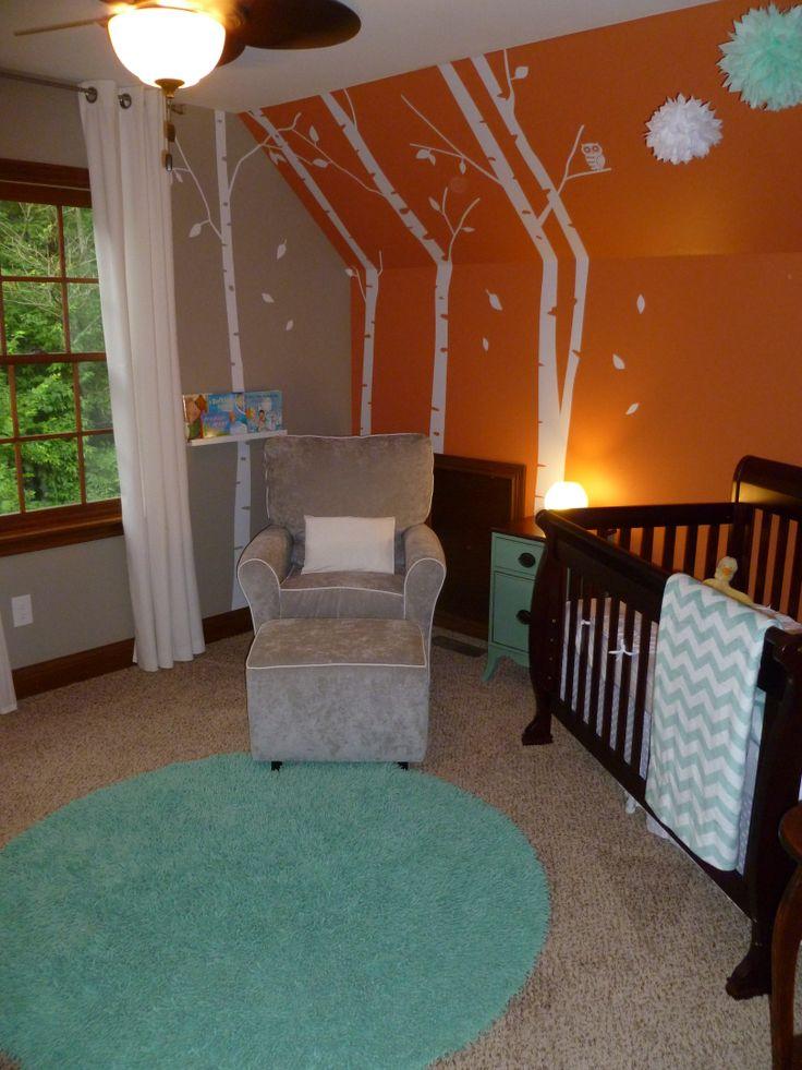 17 Best Ideas About Blue Orange Nursery On Pinterest Fox