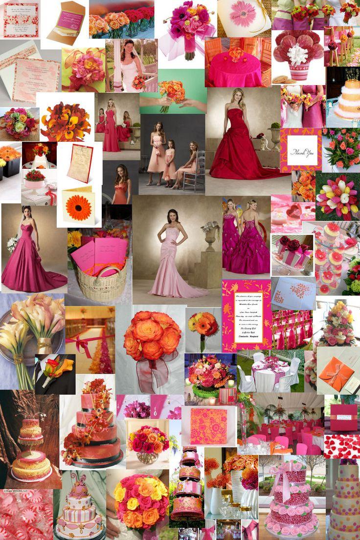 16 best orange and hot pink wedding motif images on pinterest