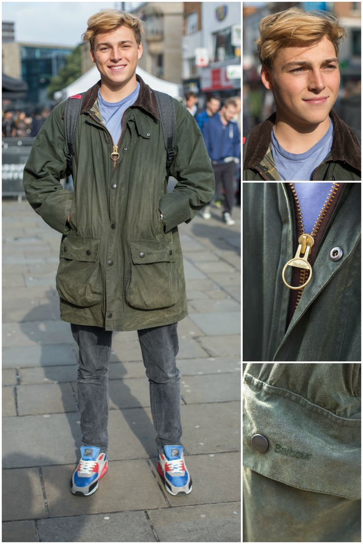 We spotted Tom in Newcastle wearing his trusty vintage Barbour Wax Jacket!