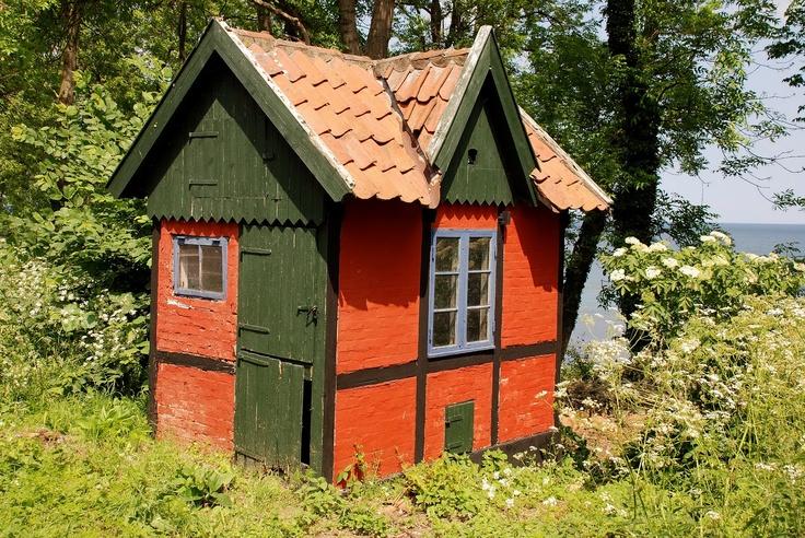 Fishing hut, Gudhjem, Denmark