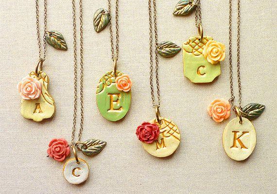 Victorian+Garden+Bridesmaid+Necklaces++Rustic+Chic+di+Palomaria,+$180,00