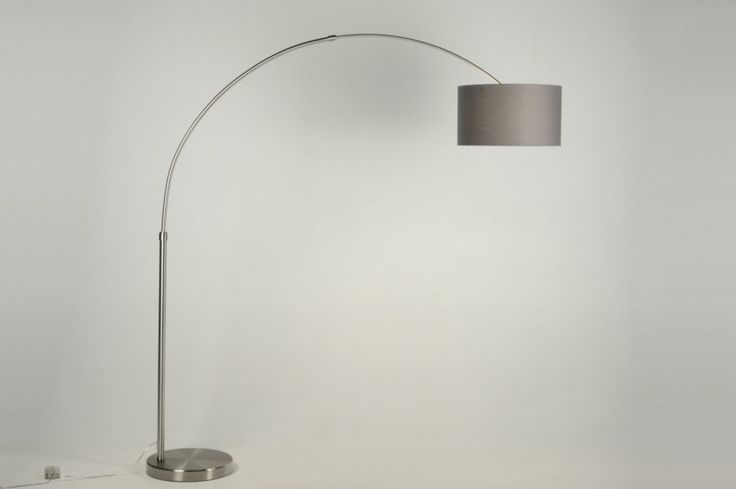 vloerlamp 30013: modern, staal , rvs, stof