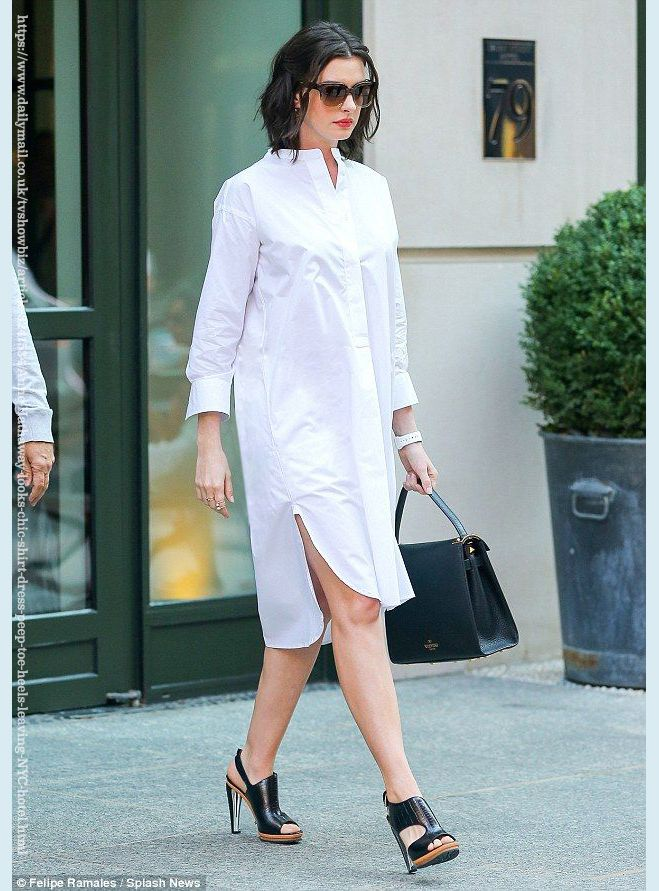 WHITE COTTON SHIRT DRESS, White formal dress with sleeves, Shift ...