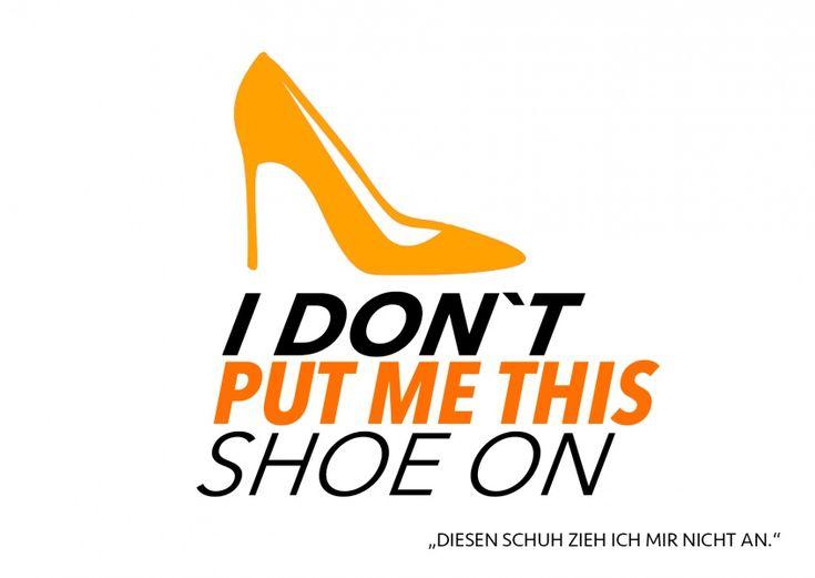 I don't put me this shoe one | Denglisch | Echte Postkarten online versenden…                                                                                                                                                                                 Mehr