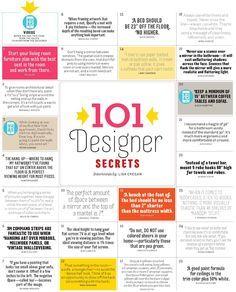 101 Designer Decorating Secrets for the hopefully near future
