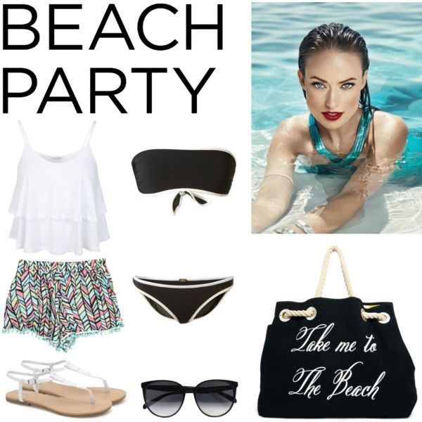 """""""beach party"""" by michellezee on Polyvore"""