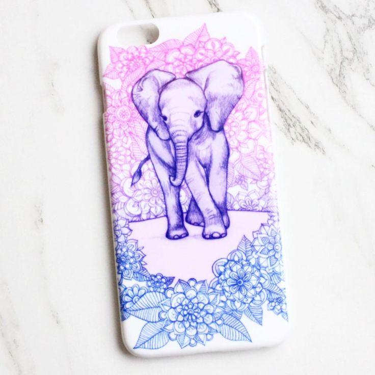 Cute Elephant Print iPhone Case