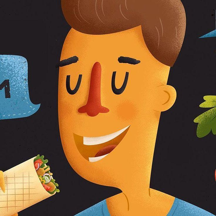 Happy client eat shawarma. 🌯 Part of last wall #illustration. — #workinprogress #drawing #digitalillustration #photoshop #graphicdesign #design #texture #artist #digitalart #artwork #creativity #inspiration #sketch #art #cartoon #рисунок #иллюстрация #дизайн #вдохновение