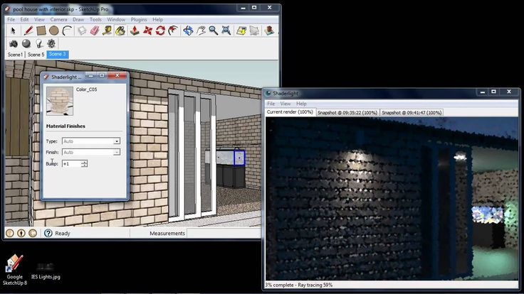 Shaderlight for SketchUp demonstration of features