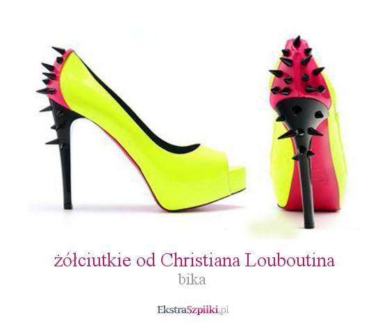 szpilka żółte - żółciutkie od Christiana Louboutina - bika