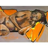 """Nilsa Sleeping"" William Stoehr - Artist Original Acrylic Painting on Canvas 36"" x 48""  $2,000.00 - See more at: http://gallerystthomas.com/art-medium/acrylic-paintings/william-stoehr-nilsa-sleeping.html#sthash.poc5dvG4.dpuf"