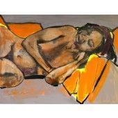 """Nilsa Sleeping"" William Stoehr - Artist Original Acrylic Painting on Canvas 36"" x 48""  $2,000.00 - See more at: http://gallerystthomas.com/art-medium/acrylic-paintings/william-stoehr-nilsa-sleeping.html#sthash.poc5dvG4.dpuf"