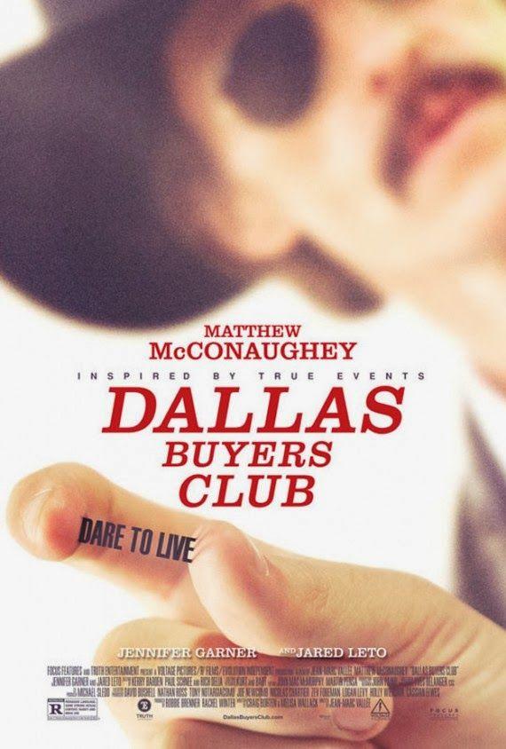 """Dallas Buyers Club"" de Jean-Marc Vallée, avec Matthew Mc Conaughey, Jennifer Garner & Jared Leto (01/2014)"
