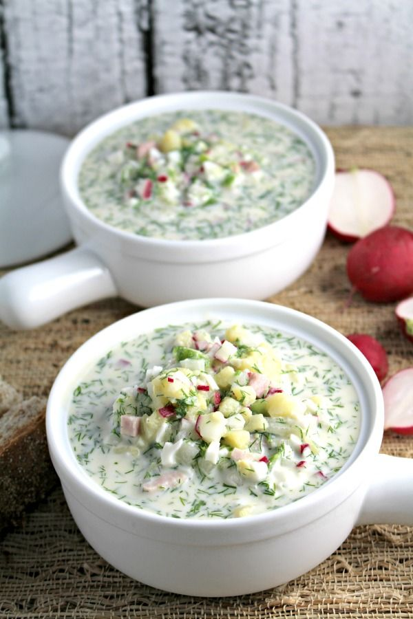 """Cold Summer Soup or Russian """"Okroshka"""" - Peas and Peonies"""