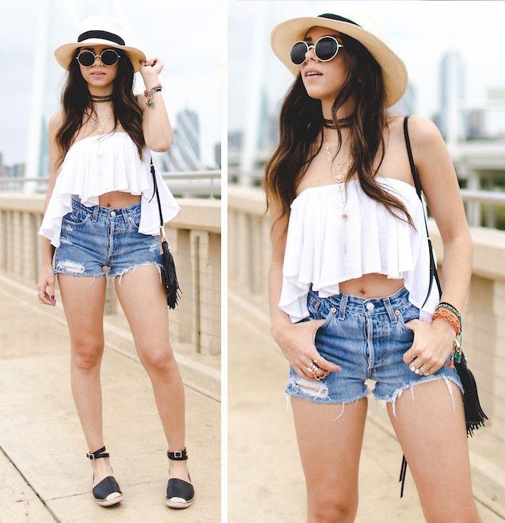 Daniela Ramirez - Vintage Levis Shorts - Summer Uniform in Dallas | LOOKBOOK