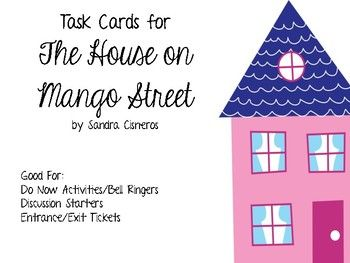 24 Task Cards for the book The House on Mango Street