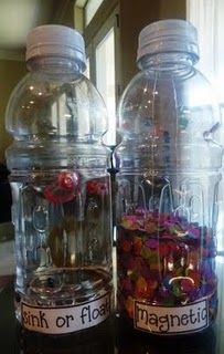 Discovery Bottles.. I will be making these this year! Click the picture for easy directions for making 13 different bottles.