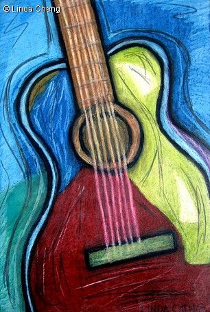 Jazzy Guitar by Linda Cheng