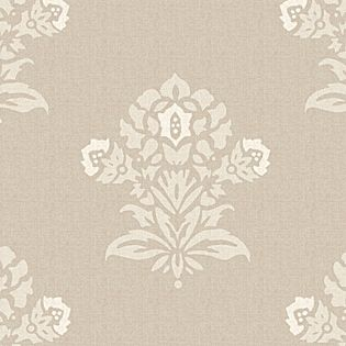 White/Putty Jaipur Fabric by the Yard | Serena & Lily