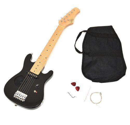 Kinder E-Gitarre Kindergitarre Elektrogitarre in Schwarz für ca. 4 - 8 Jahre mit eingebautem Lautsprecher, Tasche und Ersatzsaiten von ts-ideen, http://www.amazon.de/dp/B006ZMTX3M/ref=cm_sw_r_pi_dp_Ol3Atb0BBSFTG