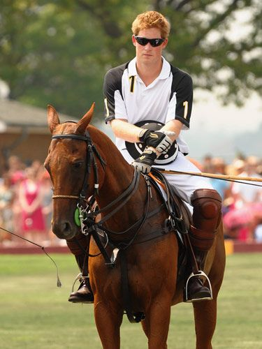 Prince Harry-Polo on a red horse with a Strawberry blond Prince.... red enough for me!! I love anything red!