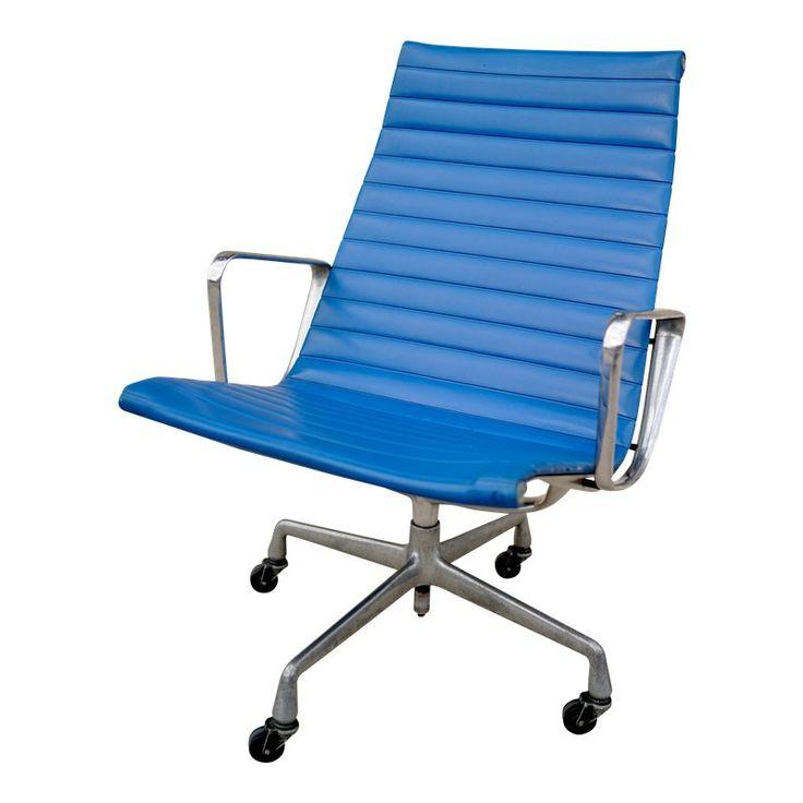eames aluminum group chair vintage