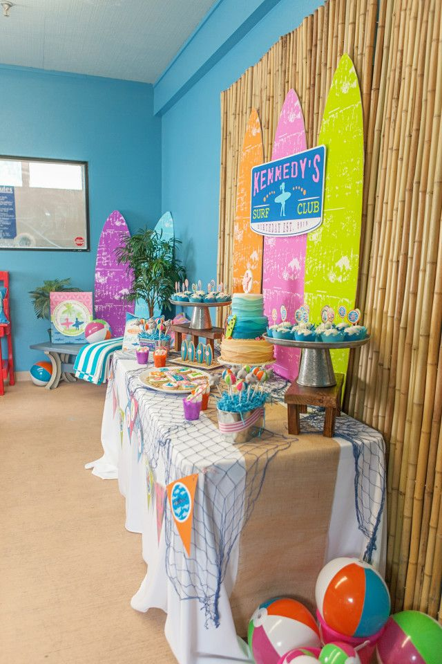 Anders Ruff Custom Designs, LLC: A Girly Surfing Birthday Party Printables