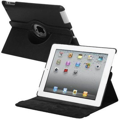 *SALE* Smart Rotary Leather Case for iPad 2, iPad 3 and iPad 4th Generation - Black - HD Accessory