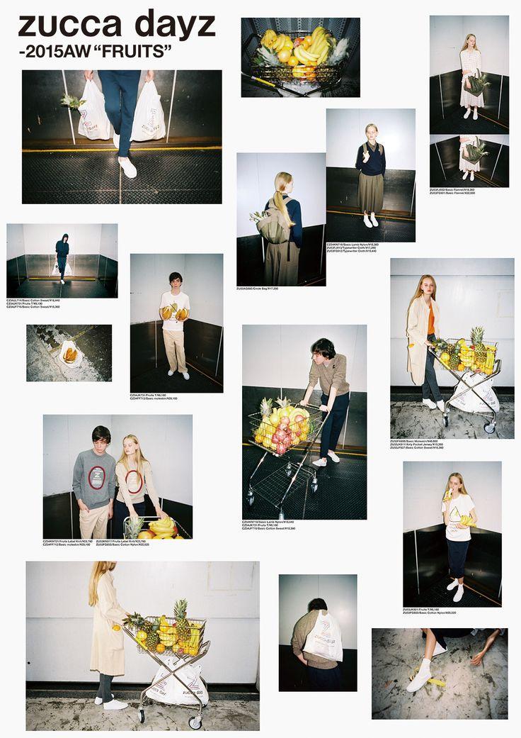 zucca dayz_FRUIT_catalog 2015 art direction:Rikako Nagashima graphic design :Aiko Koike photo:Aiko Koike