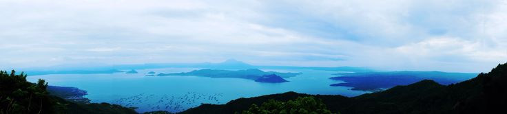 View from one of the hotels overlooking the volcano in Tagaytay, Philippines.